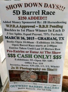 5D barrel race