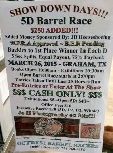 5D barrel race