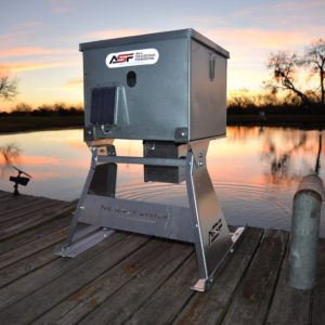 100 lb fish feeder from All Seasons Feeders at J&N Feed and Seed in Graham, Texas